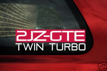 2JZGTE Twin Turbo sticker. for Toyota Supra TT,JDM, 2JZ-GTE,